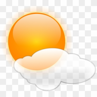 Currently - Sunny With Clouds Icon - Free Transparent PNG Clipart Images  Download