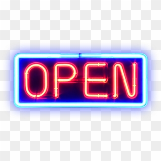 Open Neon Sign Png Stock By Mom-espeace Pluspng - Pink Neon
