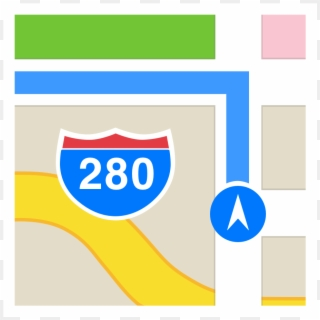 Map Iphone Icon Png Apple Maps App Png Clipart 1408636 Pikpng