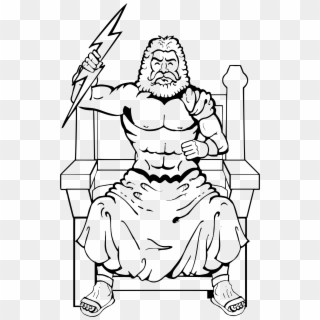 Big Image Zeus With Thunderbolt Drawing Clipart 1416795