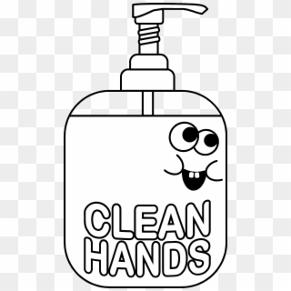 Washing Hands Clipart Black And White Hand Sanitizer For Coloring Png Download 1632406 Pikpng Hand sanitizer png & psd images with full transparency. washing hands clipart black and white