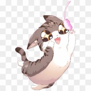 Anime Cat Love Cute Kawaii Happy Manga Chibi Japan Anime Playing With Cat Clipart 1713659 Pikpng
