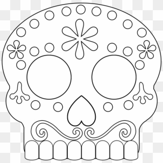 Print sugar skull simple easy coloring pages | Skull coloring ... | 320x320