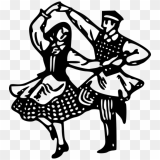 Morris Dancing At The Rose Crown Banner Transparent Folk Dance Clipart Black And White Png Download 1920094 Pikpng
