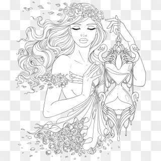 Free Adult Coloring Pages Png Transparent Images Pikpng