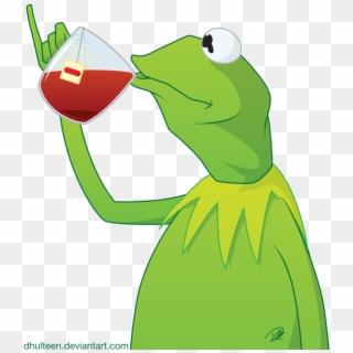 Kermit Transparent Meme Kermit The Frog Drinking Tea Cartoon Clipart 2916518 Pikpng