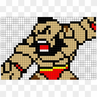 Pixel Art Street Fighter Zangief Clipart 3132652 Pikpng