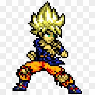Super Saiyan Goku Ssj Goku Pixel Art Hd Png Download