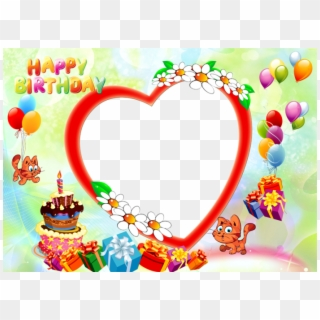 Free Happy Birthday Frames Png Images Png Transparent Images Pikpng
