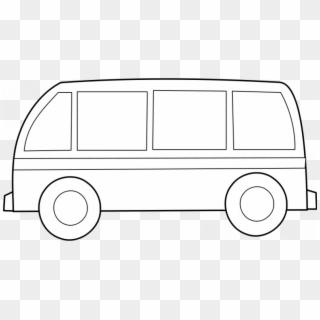 Bus Outline Vector Gambar Van Kartun Hitam Putih Clipart 3835690 Pikpng