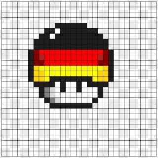mario mushroom pixel art grid