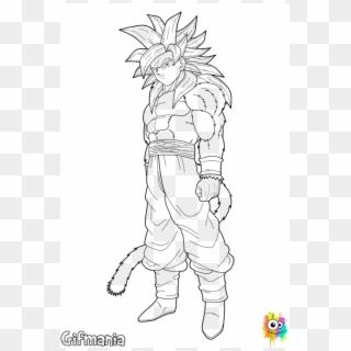 Absolutely Design Goku Super Saiyan 4 Coloring Pages Ssj4 Goku And Vegeta Drawing Clipart 4282863 Pikpng