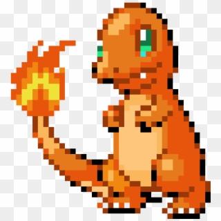 Charmander Pixel Art Pokemon Facile Clipart 448591 Pikpng