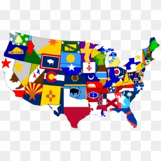 Free Usa Flag Map Png Transparent Images - PikPng