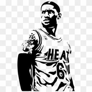 28 Collection Of Lebron James Clipart Black And White Lebron James Clipart Black And White Png Download 539700 Pikpng