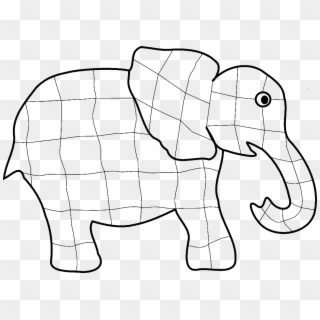 Elmer Elephant Coloring Page - Elmer The Elephant Paint Clipart