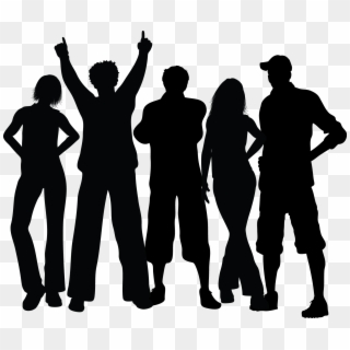 Group Black Silhouette Dancing People Silhouette Png Clipart 908307 Pikpng